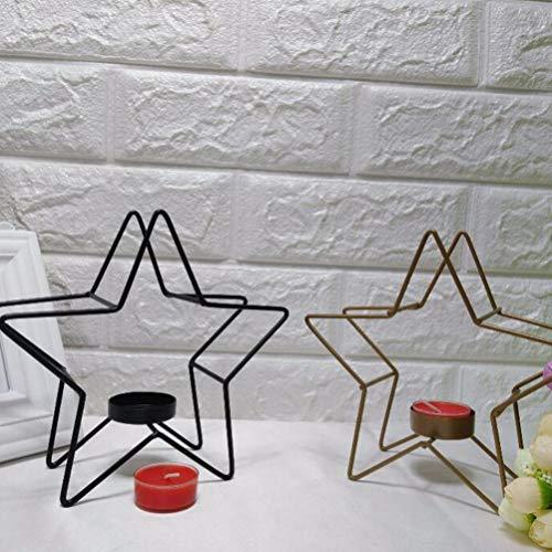 Mobestech Candelabro Metal geométrico Pentagrama