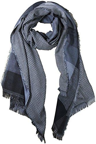 fereti-echarpe-de-soie-pour-homme-noir-et-gris-tres-douce-e-chaude-tissu-double-4-en-1