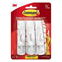 Command Utility Hooks Value Pack, Medium, White, 6-Hook, by Command
