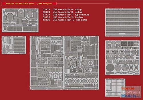Eduard EDBIG5326 Big Ed - Juego de Accesorios para Grabar Fotos (Escala 1:200-USS Missouri Parte II)