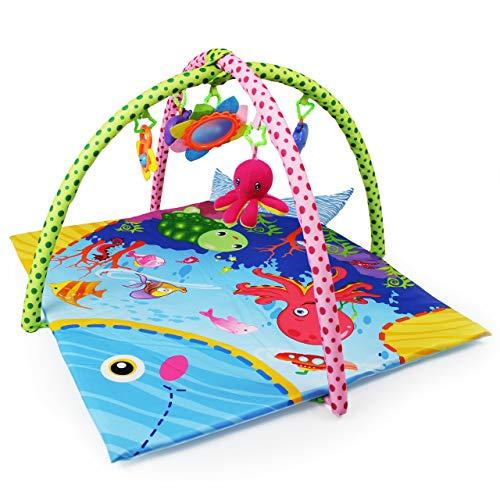 Manta de Juegos/Gimnasio para Bebés con Divertidos Juguetes y Dibujos Submarinos |...