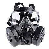 iVansa Masque à Gaz Airsoft, Dummy Anti Fog Gas Face Mask M50 avec Ventilateur...