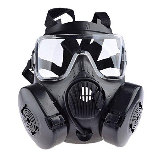MAJOZ Taktische Gasmaske mit Filter,Airsoft Maske Gasmaske für Cosplay Schutz Zombie Soldaten Halloween Masqürade Resident Evil Antivirus Schädel CS Maske