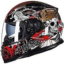 Qianliuk Adulto Motocross Casco Full Face Motocicleta Deportes Coche Protector térmico vehículo eléctrico ...