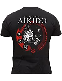 Dirty Ray Arts Martiaux Aikido Master Morihei Ueshiba t-shirt homme DT20
