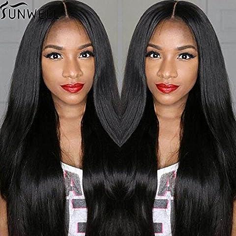 Sunwell 7a Straight alla brasiliana glueless merletto pieno parrucca capelli