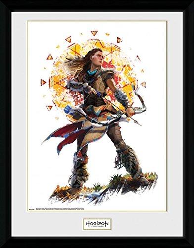 Preisvergleich Produktbild 1art1 106858 Horizon Zero Dawn - Aloy Stand Gerahmtes Poster Für Fans Und Sammler 40 x 30 cm