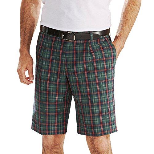 Bermuda homme golf coton taille élastique carreaux