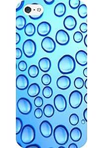 AMEZ designer printed 3d premium high quality back case cover for Apple iPhone 5S (bubbles)