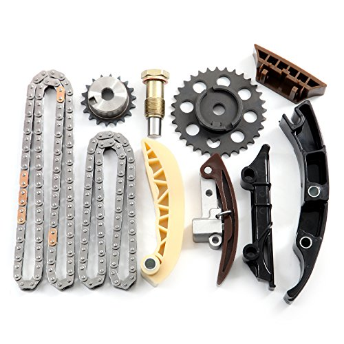 Timing Chain Kit Tensioner Guide Rail Chain Sprockets fits for 01-08 A3  Quattro Golf V6 2 8L 3 2L TCK987