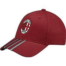 adidas AC Milan 3S - Gorra para hombre, color rojo, talla OSFM