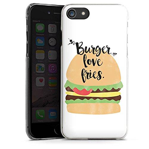 Apple iPhone X Silikon Hülle Case Schutzhülle Burger Fastfood Essen Hard Case transparent