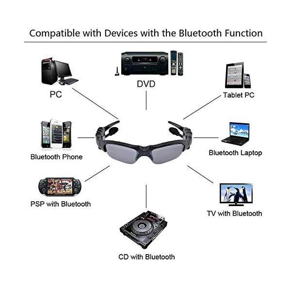 Multifuncionales Móviles Digitales, Gafas De Sol De Los Vidrios De Bluetooth Bluetooth para Auriculares De Manos Libres… 3