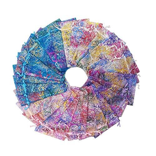 SumDirect 100Pcs 10x15cm Color mezclado Patrón Coral