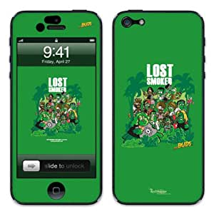 Diabloskinz B0081 0066 0062 Vinyl Skin for Apple iPhone 5/5S Lost Smoked