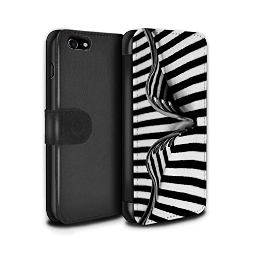 Stuff4 Coque/Etui/Housse Cuir PU Case/Cover pour Apple iPhone 7 / Cuillère/Rayures Design / Art Abstrait Collection Fourche/Rayures