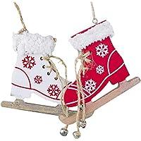Haodene 2 Pcs Patins À Glace Décorative Pendant pour Décoration De Noël/ Décoration