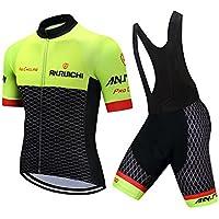 Fitsund - Conjunto de ropa de ciclismo para hombre (chaqueta y pantalón de ciclismo con almohadilla para sentarse)