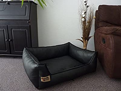 Similpelle Dog Bed / Sofa Artificial Leather 90 cm x 70 cm Black - cheap UK light shop.