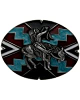 Indian On Aztec Belt Buckle In a Presentation Box