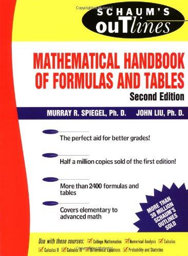 Schaum's Mathematical Handbook of Formulas and Tables (Schaum's Outline Series)