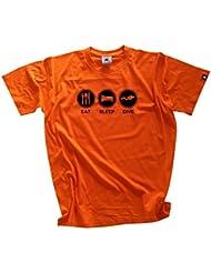 EAT SLEEP DIVE Tauchen taucher diver T-Shirt S-XXXL