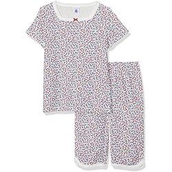Petit Bateau Girls' Bretagne Pyjama Sets, Multicolour (Marshmallow/Multico 1), 10 Years