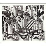 M.C. Escher - Concave and Convex - M.C. Escher Poster Print (64.77 x 55.25 cm)