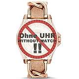 Fossil Uhrband Wechselarmband LB-ES3466 Original Ersatzband ES 3466 Uhrenarmband Leder 18 mm Beige