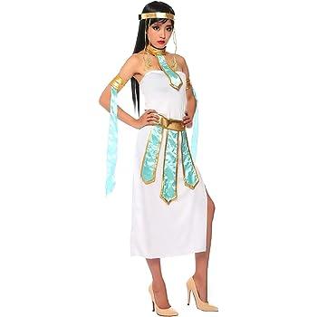71d9a2b65022 Inception Pro Infinite (Taglia L ) Costume Cleopatra - Egiziana - Bianco -  Travestimento - Donna - Adulti - Halloween - Carnevale - Feste