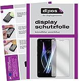 dipos I 2X Schutzfolie klar passend für BQ Aquaris X Pro Folie Bildschirmschutzfolie