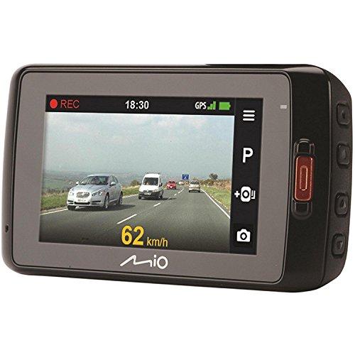 Mio MiVue 698 DashCam Drive Recorder Registratore Personale per la Guida, Camera Frontale HD, Registrazione 2304 x 1296, Camera Posteriore Full HD 1080p, Grandangolo 140°, G-Sensore a 3 Assi, GPS e Avvisi Autovelox, Nero