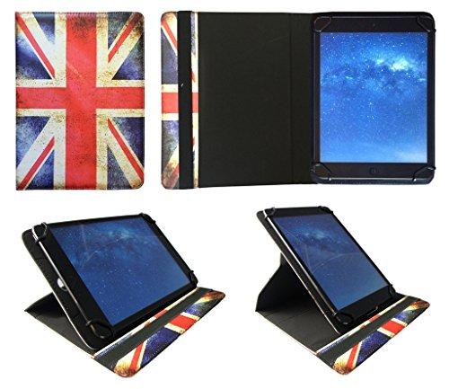 Sweet Tech AlpenTab Almrausch 10.1 Zoll Tablet Union Jack Universal 360 Grad Drehung PU Leder Tasche Schutzhülle Case
