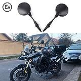 Issyzone Motorrad Spiegel 10mm E-Prüfzeichen Universal Motorrad Rückspiegel Lenkerendenspiegel Motorradspiegel Kompatibel mit MT 07 R1200GS F800GS ATV CB1000R