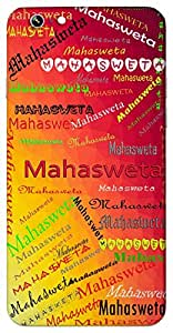 Mahasweta (Goddess Saraswati) Name & Sign Printed All over customize & Personalized!! Protective back cover for your Smart Phone : Samsung Galaxy E5