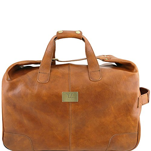 Tuscany Leather Barbados - Borsa-Trolley in pelle - TL141537 (Testa di Moro) Naturale
