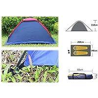 zhang-hongjun,Camping en Plein air Polyester Tente en Fibre de Verre Tige en Fibre de Verre pour Deux Personnes avec Sac(Color:Couleur ALÉATOIRE)