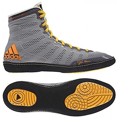 Adidas Adizero Varner Wrestling scarpe, reale / bianco / nero, 4 M Us Grey/Black/Solar Gold