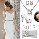 "P&M ""Snow Queen"" White Gold Plated Crystal Women Jewellery Set Bracelet Necklace Earrings Bild 6"