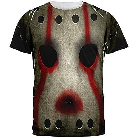 Halloween Horror Film Hockey Maske Kostüm aller Herren-T-Shirt Multi SM (Music Man Film Kostüme)