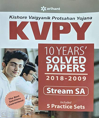 KVPY 10 Years Solved Papers 2018-2009 Stream SA