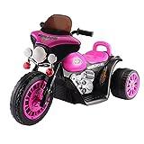 ICOCO Elektromotorrad Elektrisches Kindermotorrad Elektrofahrzeug kinderfahrzeuge motorrad Elektro Motorrad für Kinder von 2 bis 6 Jahren (Rosa)