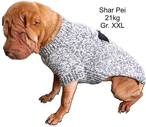 Schwarzer Strickpulli XXL mit Knochen für Hunde – Stark reduziert – Dogs Stars - 2
