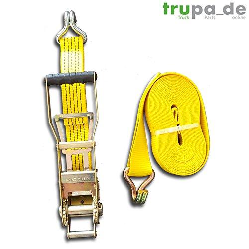 Preisvergleich Produktbild Spanngurt 5to 12m Ergo-Langhebelratsche gelb 2500 / 5000 daN