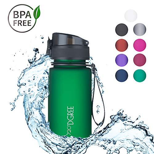 """720°DGREE Trinkflasche """"uberBottle"""" – 350 ml, 0,35 l   Neuartige Tritan Wasser-Flasche   Water Bottle BPA Frei   Ideale Sportflasche für Kinder, Fitness, Fitnessstudio, Fahrrad, Sport, Fussball"""