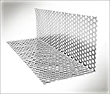Winkel-Lochblech 53 in Aluminium oder Titanzink (53-4 Aluminium 2m)