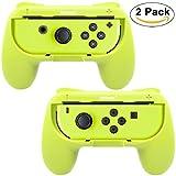Whiteoak Joy-Con Griff, [Upgrade-Version] Verschleißfest Joy-con Griff Controller Grip Kit für Nintendo Switch(2er Pack, Gelb)