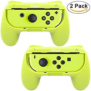 Whiteoak Joy-Con Griff, [Upgrade-Version] Verschleißfest Joy-con Griff Controller Grip Kit für Nintendo Switch, 2er Pack