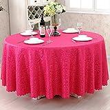 Nclon Reine Farbe Hotel Esstisch Tischdecke,Antifouling Staubdicht Runden Quadratische Rechteckige Tischdecke Elegante Tischtuch tischwäsche Verschleißfeste-Rose Red 120 * 180cm