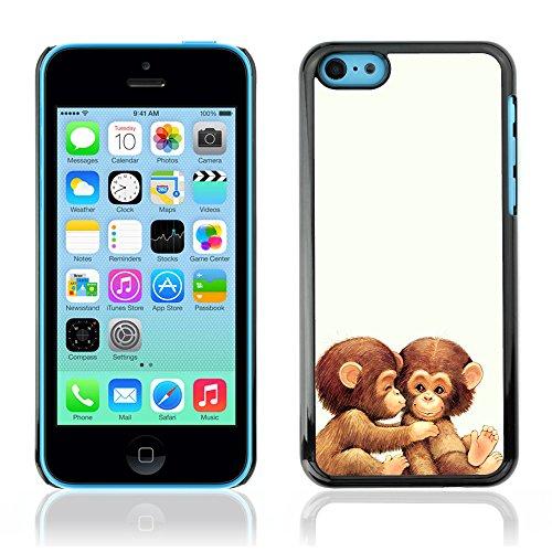 Graphic4You Lustig Niedlich Affe Tier Design Harte Hülle Case Tasche Schutzhülle für Apple iPhone 5C Design #5